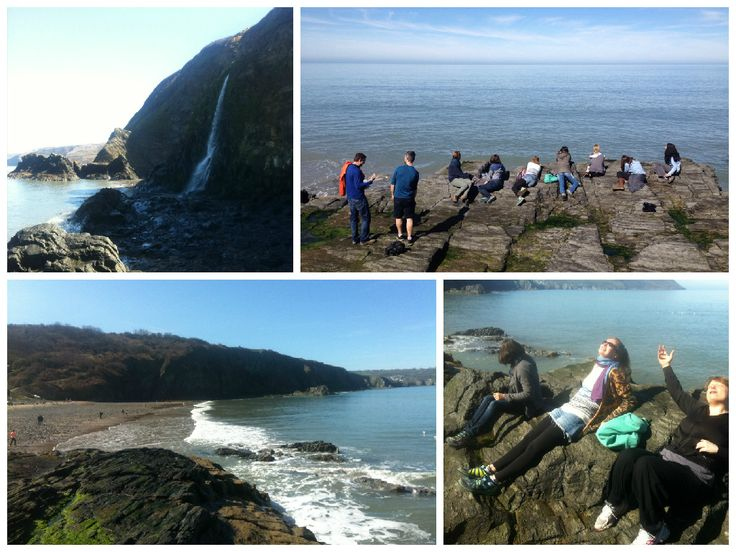 Beach Excursion on our Easter Weekend Yoga Retreat in Wales