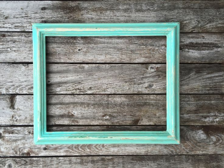 rustic picture frame distressed picture frame solid wood 1 shabby chic farmhouse mint - Mint Picture Frames