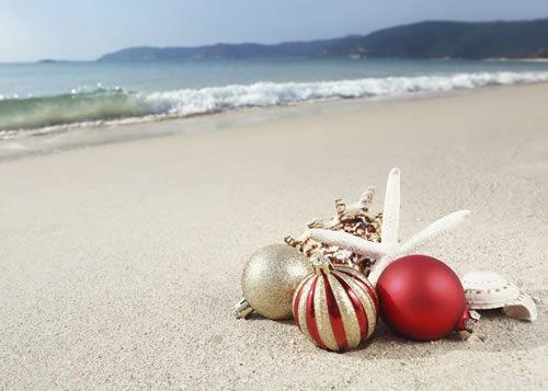 Christmas holidays on the beach