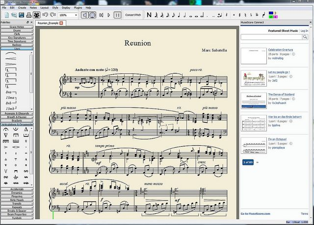 MuseScore - Create beautiful sheet music for free using MuseScore, the free and open source notation program! MuseScore runs on Windows, MacOS, and Linux, and is available in over 40 different languages. Whether you are an experienced user of other notation programs like Finale or Sibelius, or a newcomer to the world of music notation programs, MuseScore has the tools you need to make your music look as good as it sounds.