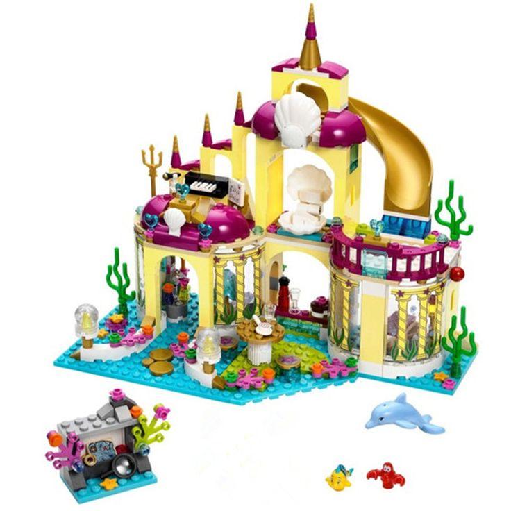 10436 JG306 Ariel Undersea Palácio Tijolos Blocos de Construção de Brinquedos Casa de Jogo Menina Presente Compatível com blocos Princesa sereia
