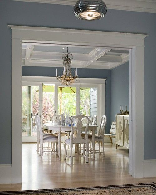 Crown molding door passage way casings baseboard for Dining room molding ideas