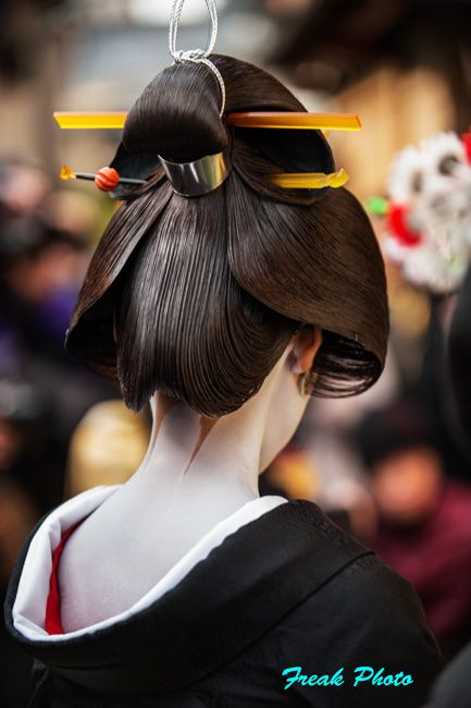 Geiko's hair, so sophisticated.: