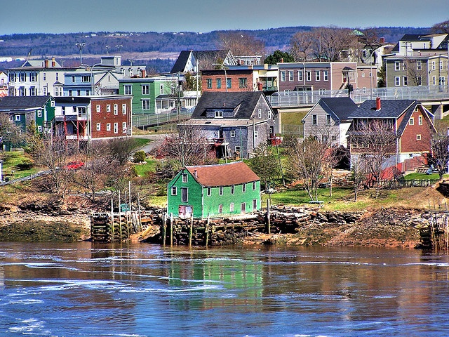 Old green fishing shack (gone now) Saint John, NB, Canada
