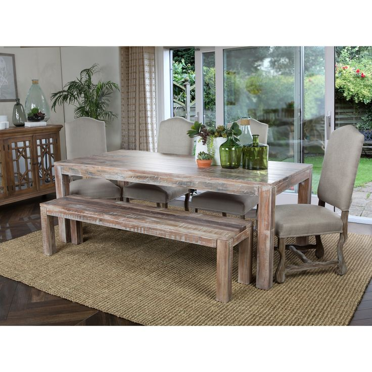 inspired by classic american furniture this unique handmade distressed dining table features a lime wash