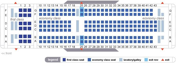 Delta Airlines Boeing 767 200 Seating Map Aircraft Chart