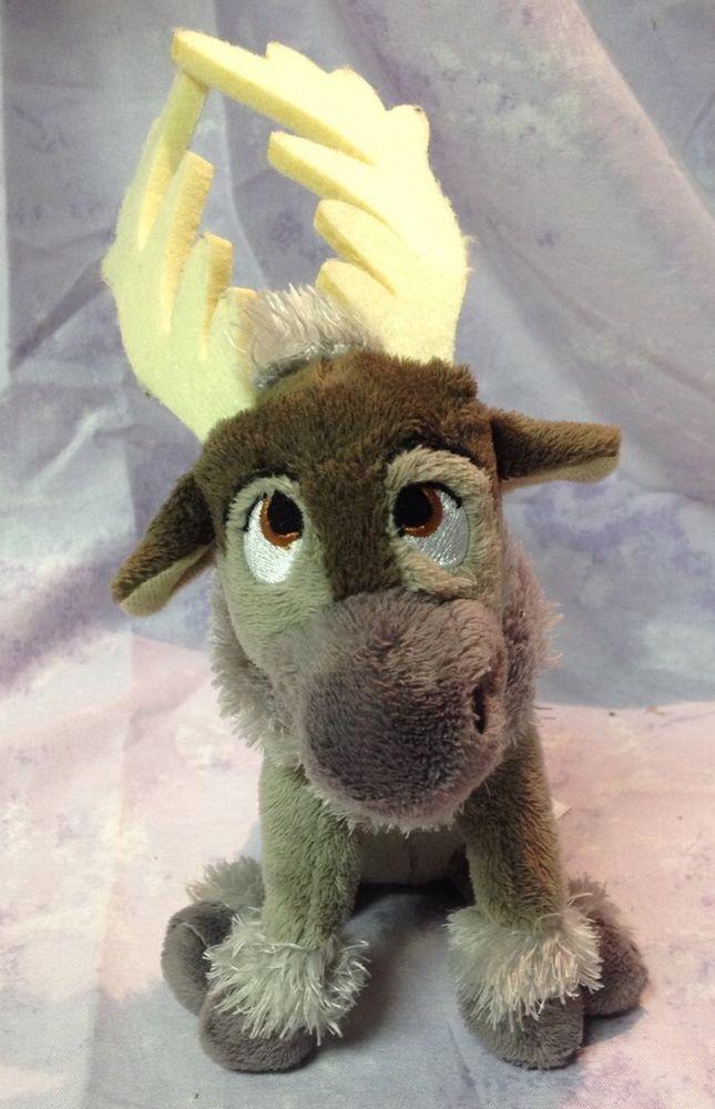 "Frozen SVEN Reindeer plush Stuffed Toy 8"" Original Beanie Baby TY Sparkle Disney #Ty"