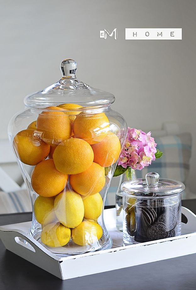 Handmade Decorative Glass Jar / Container With Lid