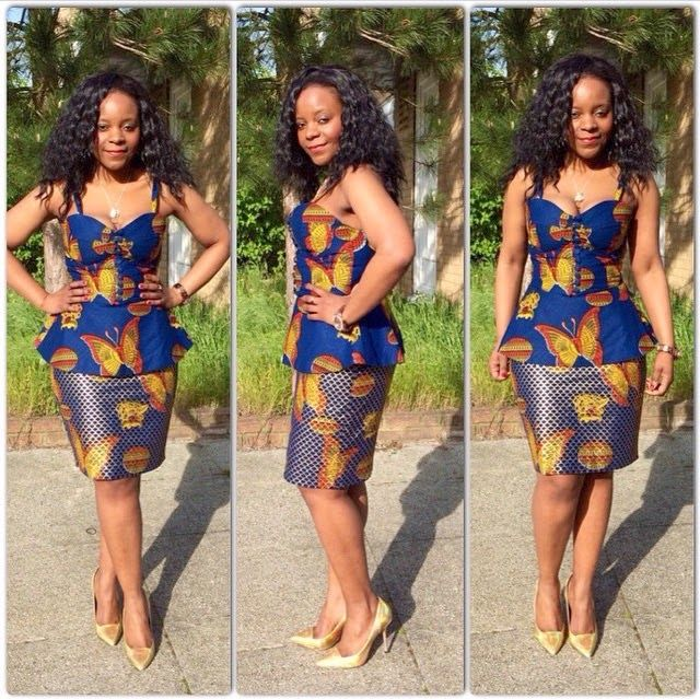 Short skirts ankara and blouses on pinterest