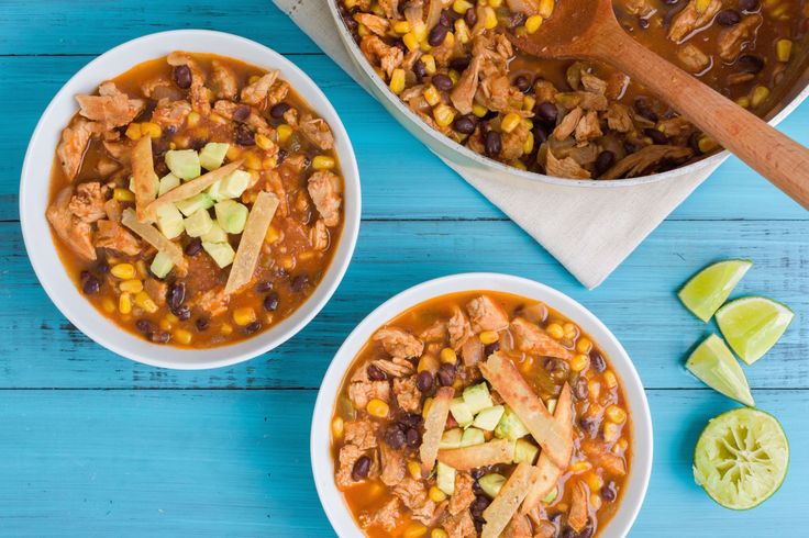 Carnitas Enchilada Soup #Mexican #Dinner #Winter NEED: pork loin, enchilada sauce, black beans, chicken broth, diced tomaties & green chiles