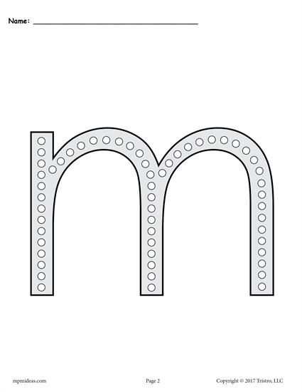 free letter m q tip painting printables includes uppercase and rh pinterest com