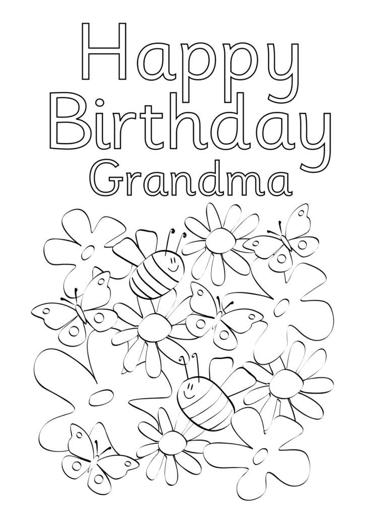 grandmother birthday coloring pages | Happy Birthday Coloring Pages | Happy birthday coloring ...