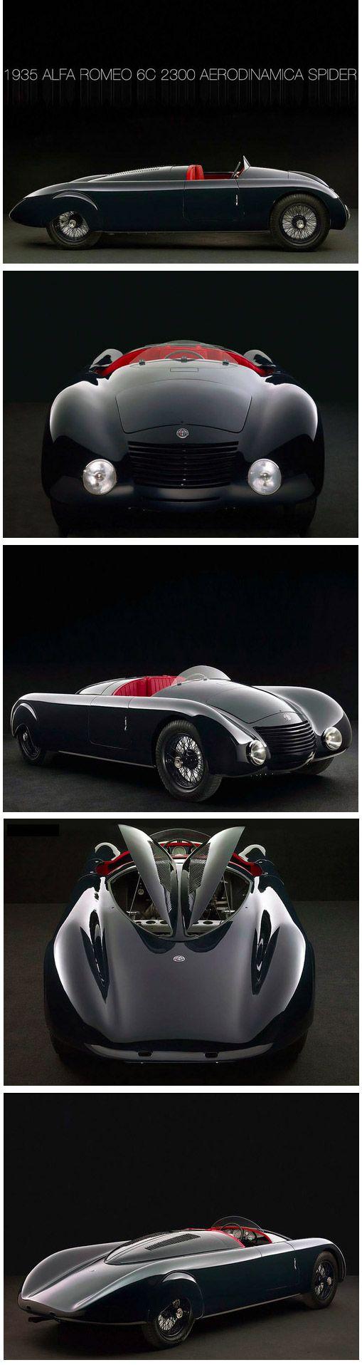 pinterest.com/fra411 #classic #car - 1935 Alfa Romeo 6C 2300 Aerodinamica Spider
