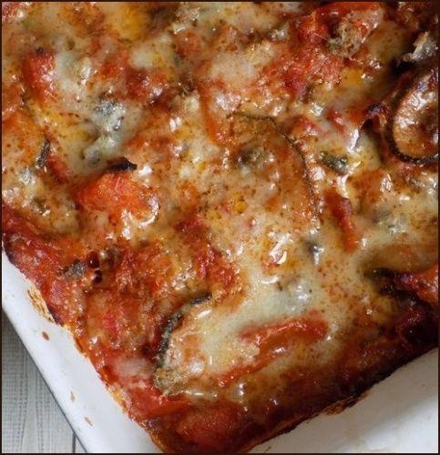Gratin de courgettes au poivron et à los angeles tomate