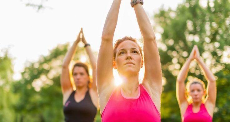 Outdoor Yoga in the Company's Garden