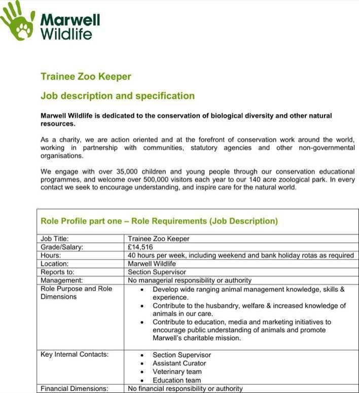 Zookeeper Resume Examples Resume Examples Resume Examples Resume Zoo Keeper Jobs