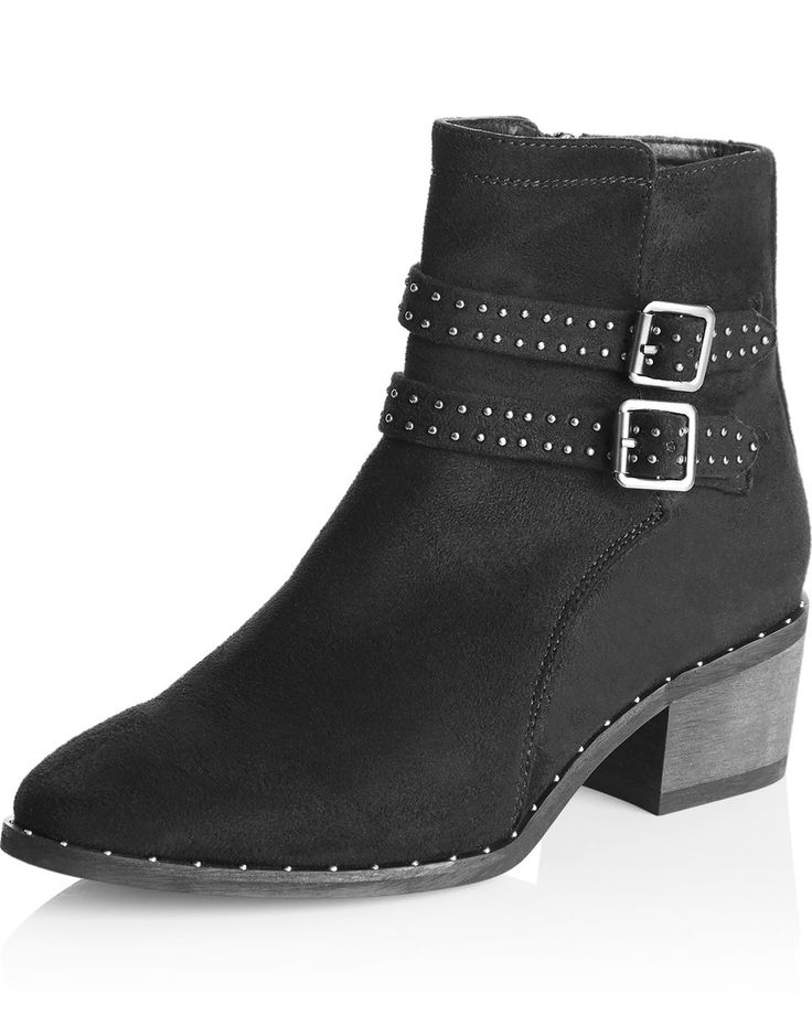 Riversoft Buckle Studded Boot