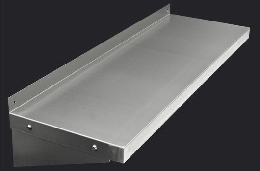 """Stainless Steel Wall Shelf. Available in 12"""", 14"""" and 16"""" depths."""