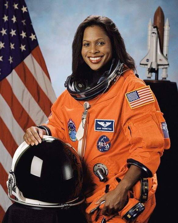 Former astronaut Joan Higginbotham!  Ms. Higginbotham was the third African American woman to go into space, after Mae Jemison and Stephanie Wilson. Retired from NASA, she is currently an engineer.