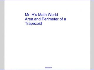 Area and Perimeter of a Trapezoid.