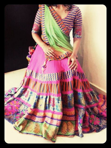 pure kinkhab ghaghra choli designed for navratri..for inquiry contact on 9225061030