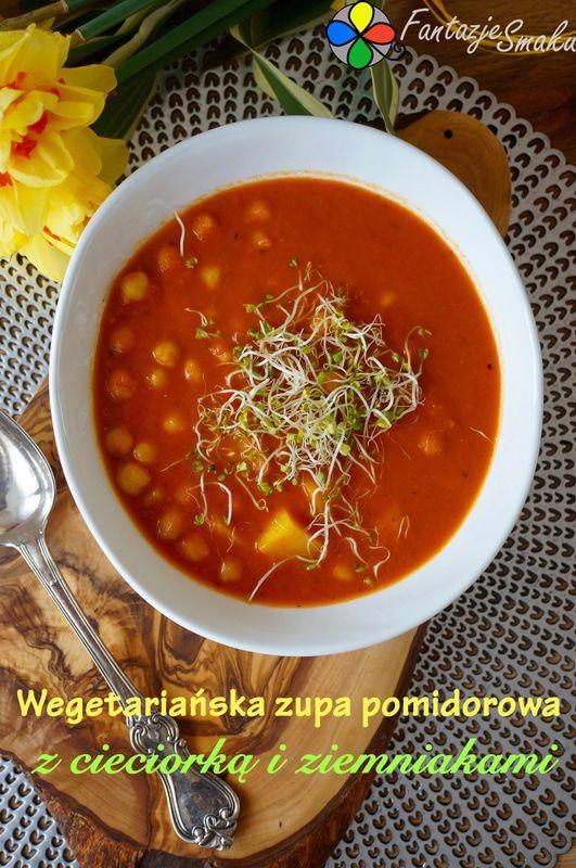 WEGETARIAŃSKA ZUPA POMIDOROWA Z CIECIORKĄ I ZIEMNIAKAMI http://fantazjesmaku.weebly.com/blog-kulinarny/wegetarianska-zupa-pomidorowa-z-cieciorka-i-ziemniakami