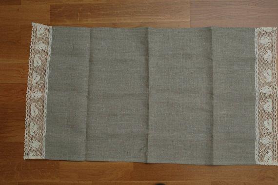 Kitchen towel linen towel romantic lace swan by Lovetosleep