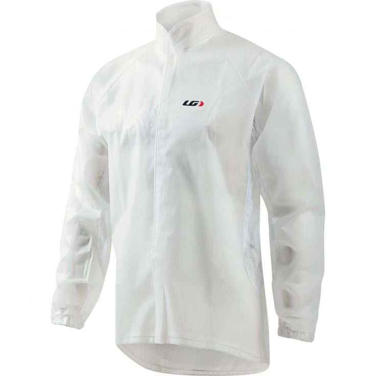 CLEAN IMPER CYCLING JACKET  The Clean Imper Jacket is transparent to expose team apparel and race bib numbers while providing total wind and rain protection. Reflective trim enhances visibility in foggy/rainy road conditions. The front hook and loop fastener opening makes it easy to remove when riding. Mesh underarm and side panels evacuate moisture.