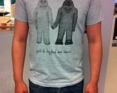 Yeti and Bigfoot are Lovers Tote Bag. $8.00, via Etsy.