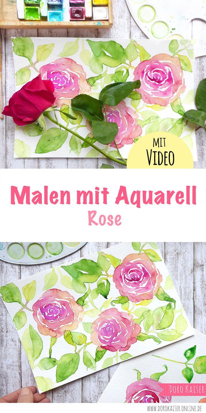 Malen lernen mit Aquarell: Rosen – DIY MALEN und ZEICHNEN