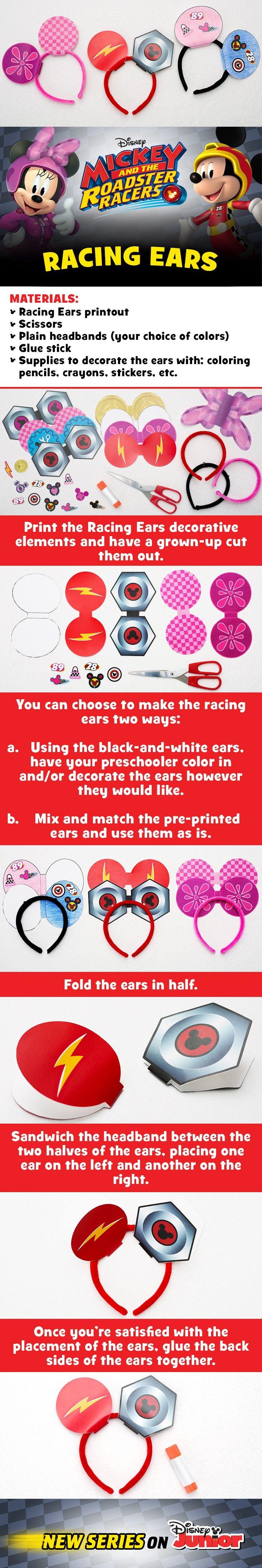 DIY Mickey and Minnie Roadster ears