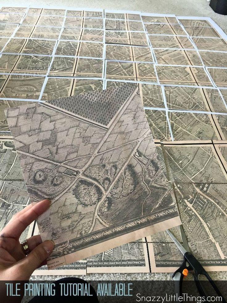 40 Knock off Restoration Hardware Paris Map