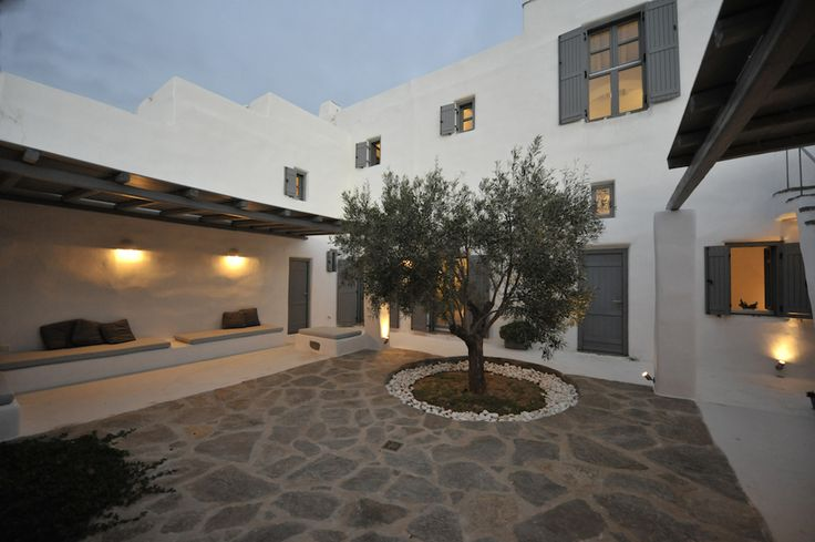 The outside living room is where the heart of the house is beating! Cool summer nights in the house just like in the main square of a small village in Cyclades.