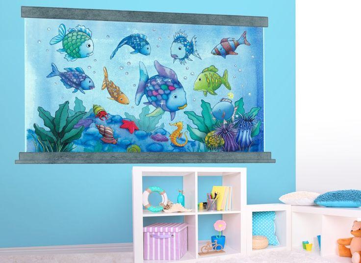 Rainbow Fish Aquarium Wall Decal Ah