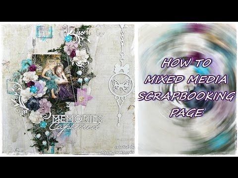 Scrapbooking mixed media page 'Memories Captured' for Blue Fern Studios