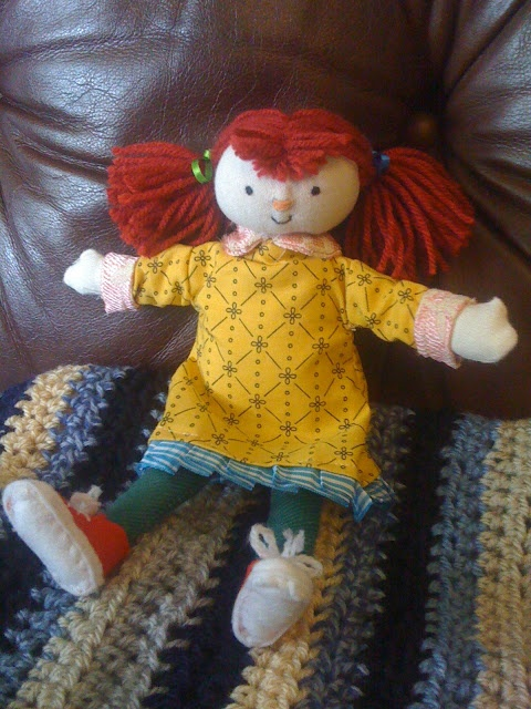 """Homemade """"Teal"""" doll from Cbeebies """"The Adventures of Abney and Teal"""""""