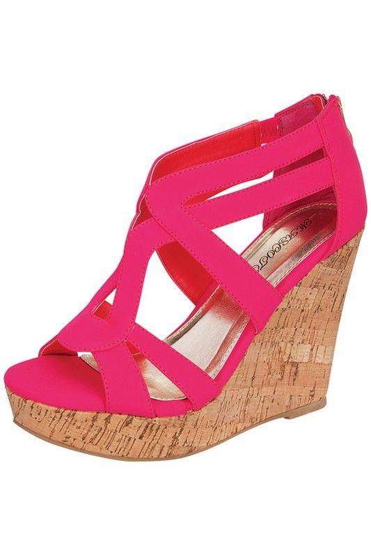 Pink Paola Wedge Sandal