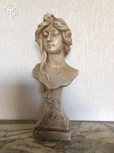 statue platre buste femme style art nouveau d coration hauts de seine a de. Black Bedroom Furniture Sets. Home Design Ideas