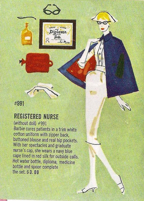 Registered Nurse - Barbie from days gone by.  My, my - how things have changed.