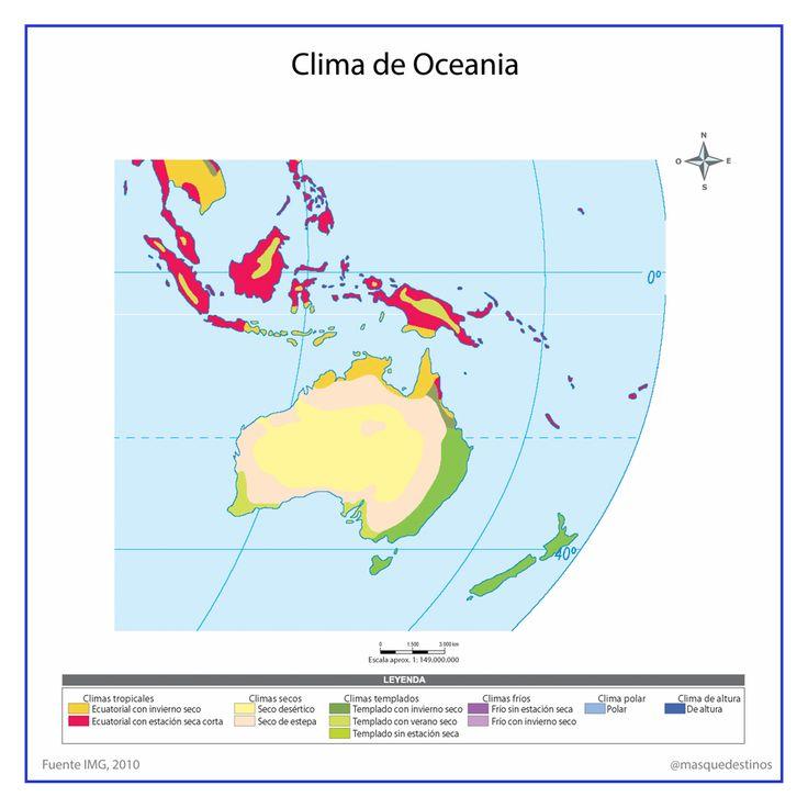 Clima De Oceanía Oceanía Mapa De Oceania Clima Polar
