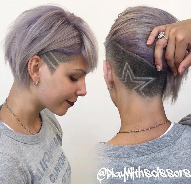 Mädchen Frisur Hinterschnitt