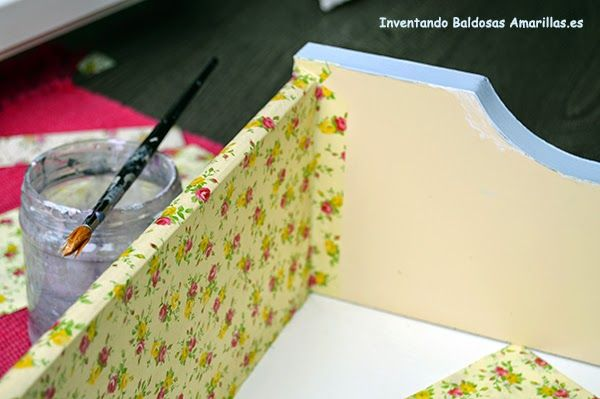 Tutorial para forrar cajones con papel. Aprende paso a paso
