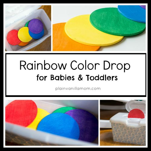 Plain Vanilla Mom: Rainbow Color Drop Game for Babies and Toddlers