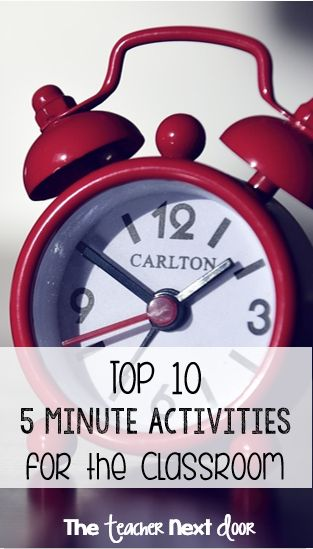 Time between lessons? Try one of these ideas when you need to re-direct your students before some form of chaos (big or small) is about to erupt.