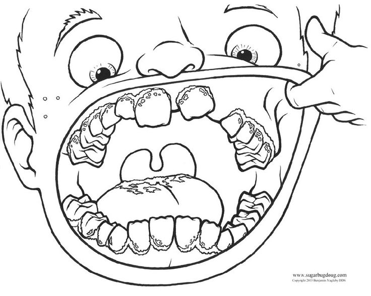 coloring book pages dentist - photo#29