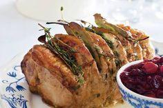 Gemarineerde rollade met cranberrysaus - Kerstrecept Hoofdgerecht