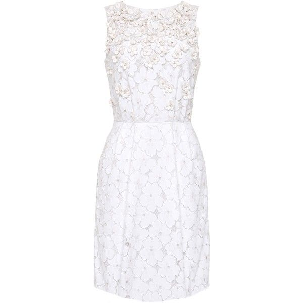 Matthew Williamson Daisy Lace Embroidered Mini Dress (24 385 UAH) ❤ liked on Polyvore featuring dresses, vestidos, 13. dresses., short dresses, white lace cocktail dress, short white cocktail dresses, white dress, floral cocktail dresses and white beaded cocktail dress