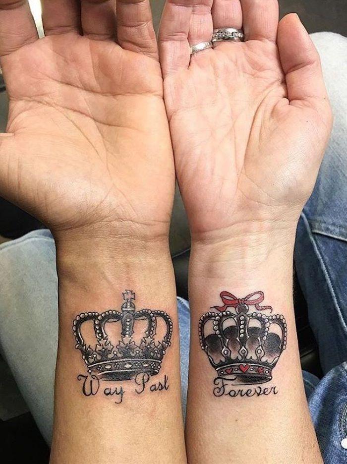 ▷ 1001 + idées pour le tatouage de couple le plus beau