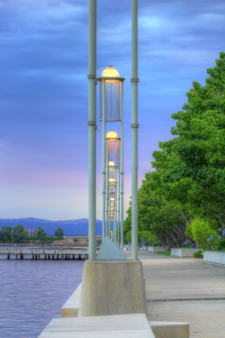 Lake Burley Griffin lamp posts Canberra