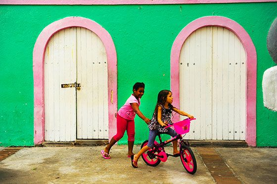 Bicycles are sometimes a child's only toy in the developing countries where we work - #Brazil